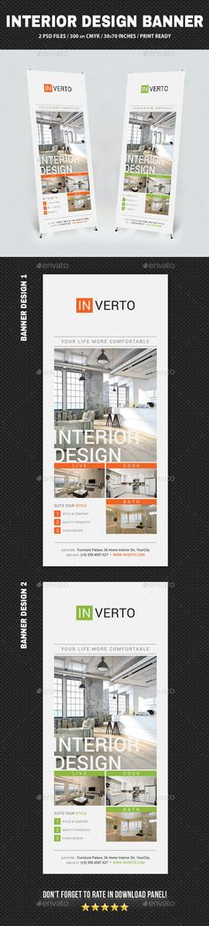 Interior Design Banner Template PSD