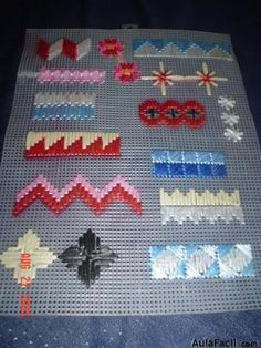 """""""Plastic canvas with ribbon"""", """"The world's catalog of creative ideas"""" Bargello Needlepoint, Bargello Patterns, Needlepoint Stitches, Needlework, Plastic Canvas Stitches, Plastic Canvas Tissue Boxes, Plastic Canvas Crafts, Plastic Canvas Patterns, Cross Stitch Embroidery"""