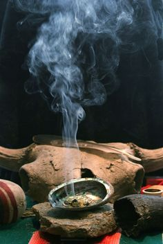 The smudge is a ritual cleansing.