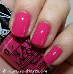 Gwen Stefani by OPI Nail Polish Collection Swatches, Review & Nail Art - Blushing Noir