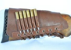 Leather Butt Stock holder Cover for Rifle Carabine 6 by ARMORS