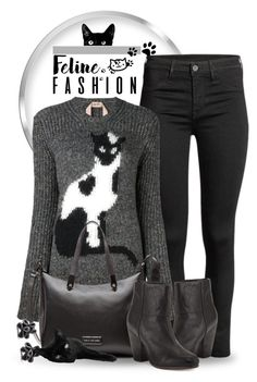 """""""Feline Fashion"""" by jackie22 ❤ liked on Polyvore featuring N°21, Marc by Marc Jacobs, rag & bone, Hring eftir hring, cats, catsweater, catstyle and felinefashion"""