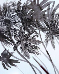 Quick #ink #sketch #palms     …     #illustration #wip #warmup #tropical #botanical #beach #ohkiistudio  (at Willamsburg)
