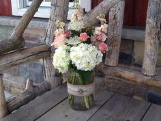 Gallon size mason jar arrangements
