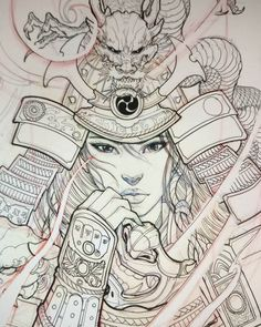 Risultato immagine per Japanese Geisha Tattoo Drawings Japanese Drawing, Japanese Tattoo Art, Japanese Tattoo Designs, Japanese Geisha, Japanese Art, Japanese Female, Japanese Prints, Japanese Warrior Tattoo, Female Samurai Tattoo
