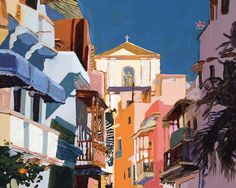 "old san juan | New Print Available: ""Old San Juan"" | Robert Leedy Watercolors"