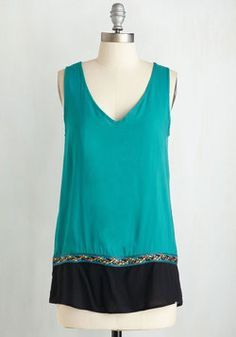 Pop of Colorful Top in Teal
