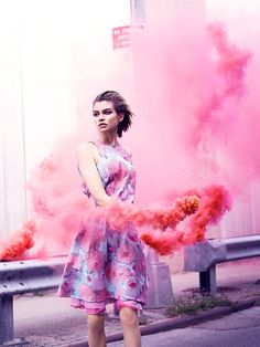 I LOVE the idea of smokebombs in photoshoots... One of my favorite ever concepts. **************************************** Stella Maxwell by Ben Morris for Numéro Tokyo #74 March 2014