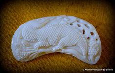 Hand Carved Buffalo Bone Pale Ivory Color by TemplesTreasureTrove