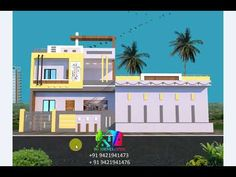 2 Story House Design, Modern Small House Design, Village House Design, Village Houses, 2 Story Houses, Front Elevation, House Front, Latest Fashion, Mansions
