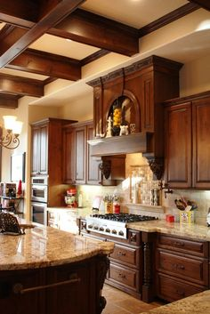 An old world kitchen we designed for some of our best clients! www.evermonhomes.com