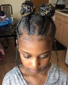 Black Kids Braids Hairstyles, Toddler Braided Hairstyles, Natural Hairstyles For Kids, Baby Girl Hairstyles, Braids For Black Hair, Braids For Black Kids, Kids Cornrow Hairstyles, Easy Hairstyles, Braids For Kids