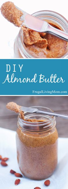 Homemade Almond Butter Almond butter is expensive, why not make your own? Homemade almond butter is a snap. Homemade Almond Butter, Vegetarian Recipes, Cooking Recipes, Keto Recipes, Breakfast Desayunos, Good Food, Yummy Food, Chutneys, Diy Food