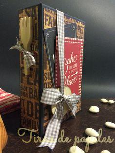 tutorial recetario scrapbook- recipe book- Scrapbook Journal, Mini Scrapbook Albums, How To Make Scrapbook, Scrapbooks, Projects To Try, Gift Wrapping, Handmade, Gifts, Diy