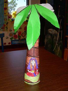 Deborah under the palm tree