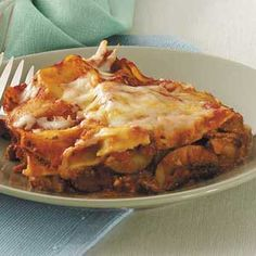 Zucchini Red Pepper Lasagna Recipe from Taste of Home