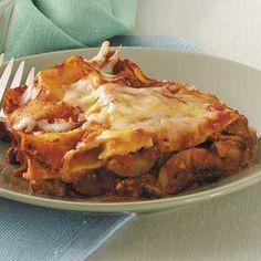 Zucchini Red Pepper Lasagna Recipe from Taste of Home