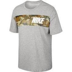 Nike Herren Sport-Freizeit-Fitness-T-Shirt M NIKE NSW SS CAMO  grün grau
