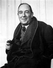 A rare picture of a literary giant and Christian author, C.S.Lewis