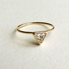 Trillion Diamond Ring - a triangular cut stone