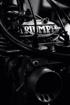 >stunning photograph of a triumph motorcycle part <3 <3 <3
