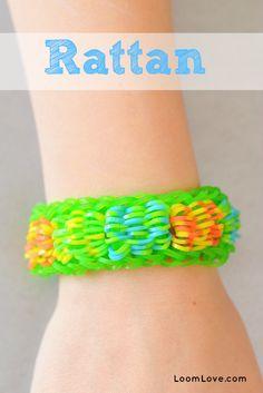 How to Make a Rainbow Loom Rattan Bracelet