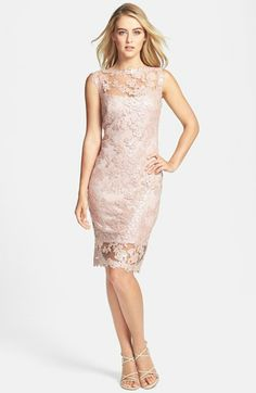 Tadashi Shoji Sequin Illusion Lace Dress available at #Nordstrom shopping bag 2.11.2014   41 inch