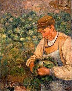 Camille Pissaro (1830–1903):  'The Gardener', ca. 1890