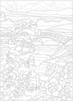 Color by Number Adult Coloring Books Fresh Creative Haven Country Scenes Color by Number Coloring Book Garden Coloring Pages, Fall Coloring Pages, Printable Adult Coloring Pages, Animal Coloring Pages, Coloring Pages To Print, Free Coloring, Coloring Books, Adult Color By Number, Color By Number Printable