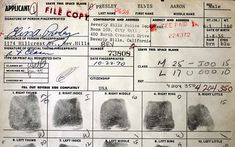 {*Elvis's ~The black ink prints are on a gun permit application for the state of California, completed by Elvis Presley on October 22, 1970*}