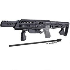 Turn your Glock 17 into a pistol-caliber carbine without ANY paperwork or tax stamp with Command Arms Accessories RONI!