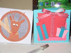 Christmas cards I made in 2008 (in some cases I cannot claim these ideas as original, though I'm not sure the sources)