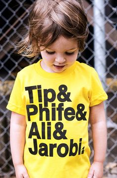 Tribe T-Shirt by Hatch For Kids Linden Boulevard represent, represent 'sent. ···· Children's Tee Shirt • Unisex • Tagless 100% fine combed cotton Color options: Yellow, Red Also available in Baby One-