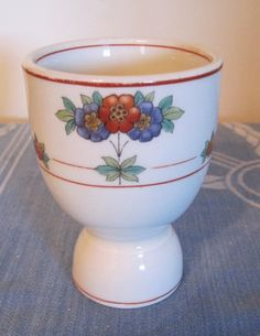 Ceramic Egg Cup, Vintage Egg Cup, Pretty Egg Cup, Egg Cup with Flowers