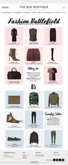 3da3e90cc Fashion Battlefield, Mens Fashion, The Box Boutique