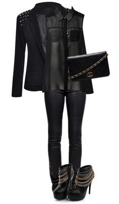 """Woman in black"" by blackqueen123 ❤ liked on Polyvore"