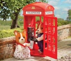 sylvanian families - cabine telefônica -telefone - importado