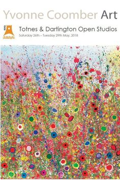 Artist Open Studios, Totnes, Devon. A celebration of magic and colour. Internationally established artist Yvonne Coomber painting in oils. Vibrant evocations of meadows, hedgerows and the joys of being alive.