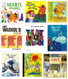 introducing a toddler to galleries and museums/books for children about artists