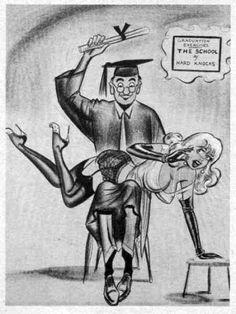 Male professor spanks female student.