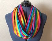 Rainbow Infinity Scarf / Rainbow / Colorful / Scarf / Gay Pride / Hippie / Flower Child / Equal Rights / LGBT / Festival / Parade / Proud