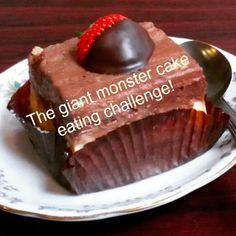 The giant monster cake eating challenge Cafe Me, Dublin, Irish, Challenges, Sky, Posts, Desserts, Blog, Heaven