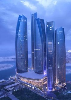 This aerial view of Etihad Towers, Abu Dhabi is simply amazing.