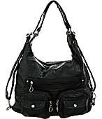"Purse Boutique: Deep Navy Blue Utilitarian ""Juniper"" Slouchy Shoulder Hobo Bag, Purses"
