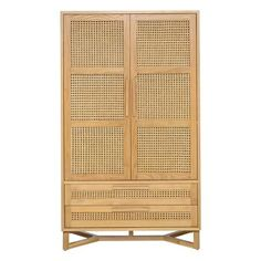 raffles-2-door-2-drawer-wardrobe,-natural-&-rattan-1