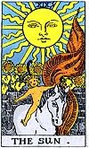 e Sun symbolizes many things depending on how you look at it. The ancients saw the sun as the giver of life and light, and almost every polytheistic faith has a Sun God. It brings light and clarity after a period of darkness and confusion, and in this sense the Sun God is often a redeemer as well; a bringer of peace and good times after ordeals. Finally, the Sun is a symbol of steadfastness and reliability, for no matter how bleak your situation may seem, no matter how many problems you…