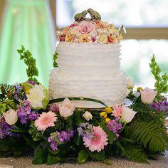Wedding Cake Wednesday: The Princess and the Frog Ruffle Cake #Princess #Frog #Disney #wedding #cake #Wednesday