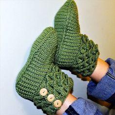 Crochet Crocodile Boots Slipper- 30 Easy Fast Crochet Slippers Pattern | DIY to Make
