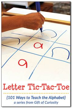 Looking for a creative way to teach the alphabet? Trying to help your child learn her letters? Try a round of Letter Tic-Tac-Toe to make learning letters fun! If your child loves tic-tac-toe, this is a great way to get her practicing her letters! Kindergarten Language Arts, Preschool Literacy, Early Literacy, Preschool Learning Activities, Alphabet Activities, Preschool Activities, Letter Games For Kids, Teaching The Alphabet, Learning Apps