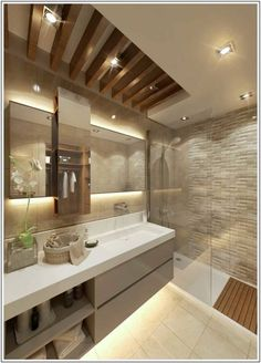 Modern Bathroom by Cct investments - cct 101 project in beylikduzu - - Bathroom Design Luxury, Modern Bathroom Design, Modern Sink, Bathroom Designs, Modern Bathtub, Modern Bathrooms, Wood Bathroom, Master Bathroom, Bathroom Ideas